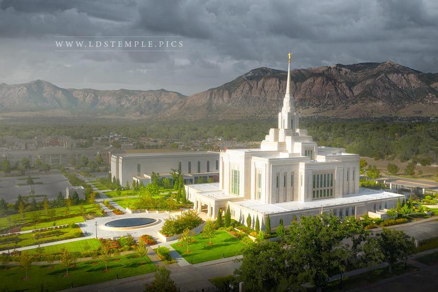 Ogden Temple A Place of Refuge Print