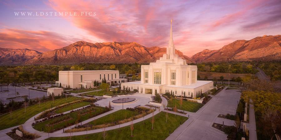 Ogden Temple Autumn Glow Print