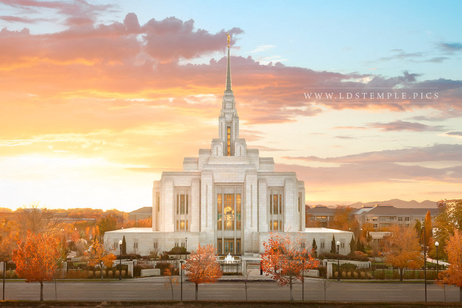 Ogden Temple Autumn Gold Print