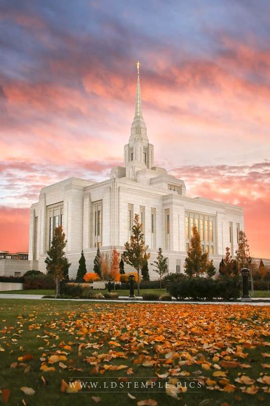 Ogden Temple Autumn Leaves Print