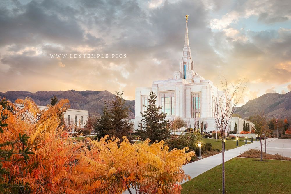 Ogden Temple Fall Sunrise Print