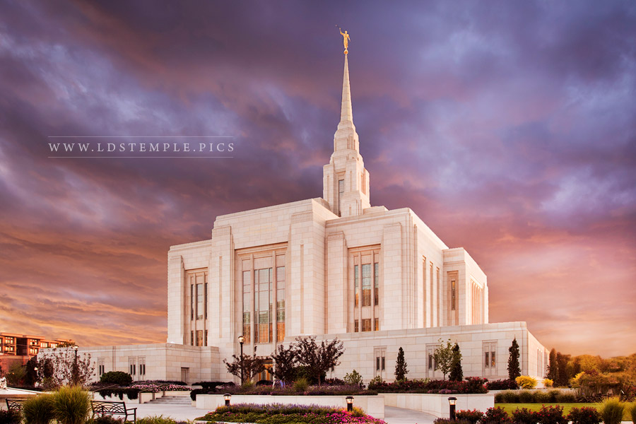 Ogden Temple Magnificent Grace Print