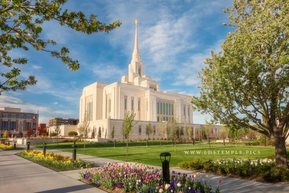 Ogden Temple Spring Morning Lds Temple Pictures