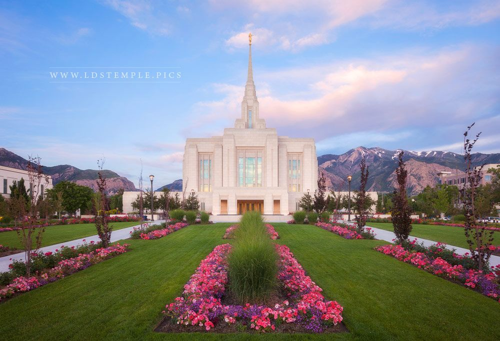 Ogden Temple Summer Evening Print