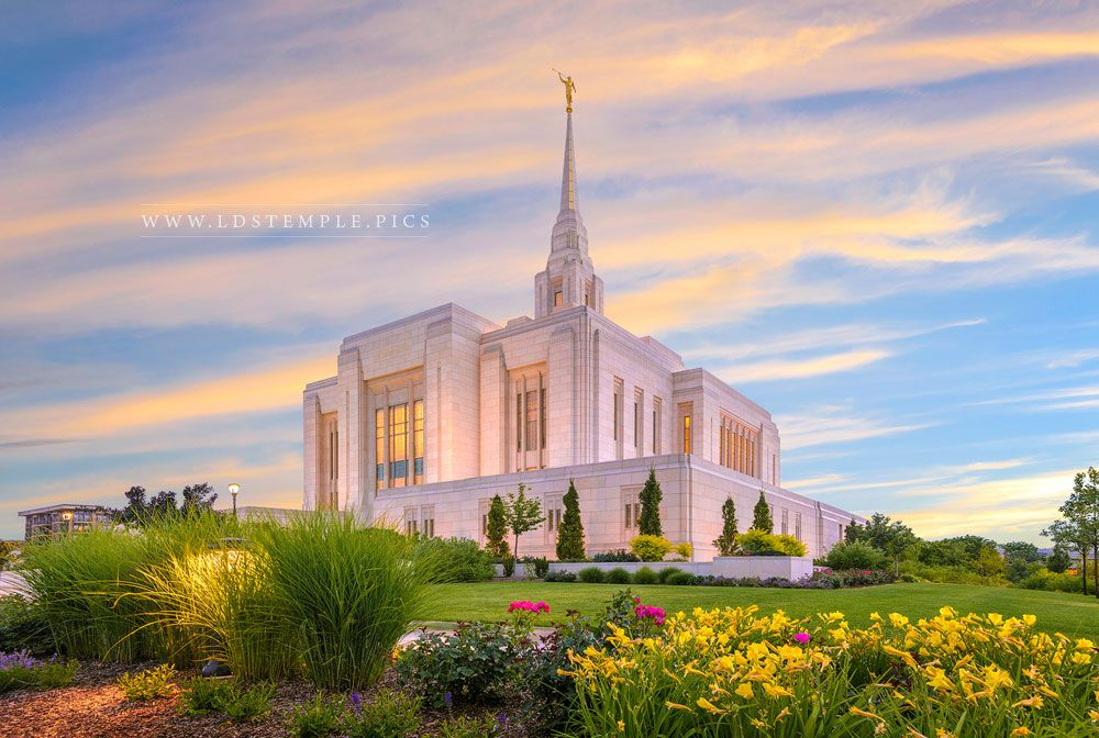 Ogden Temple Summer Flowers Print