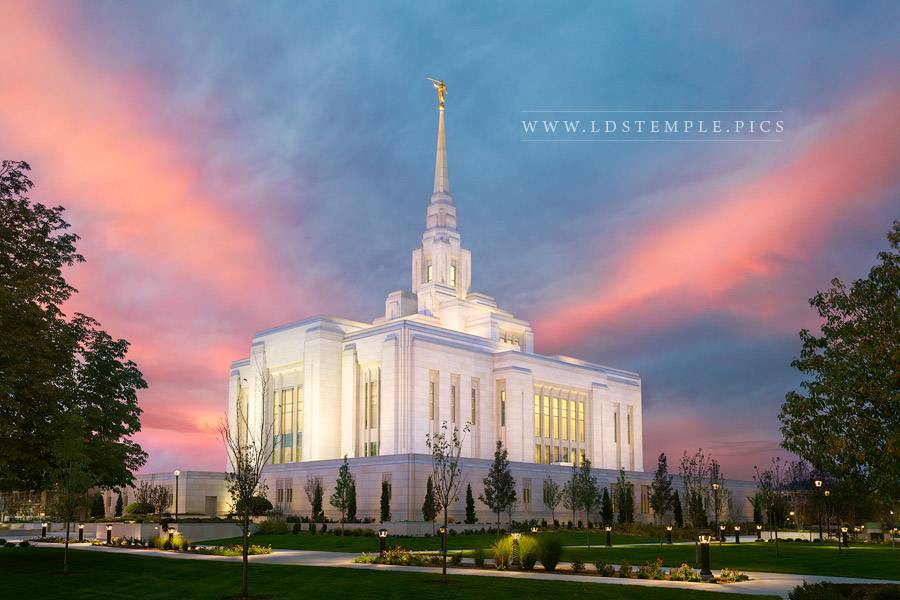 Ogden Temple Sunrise Southwest Print