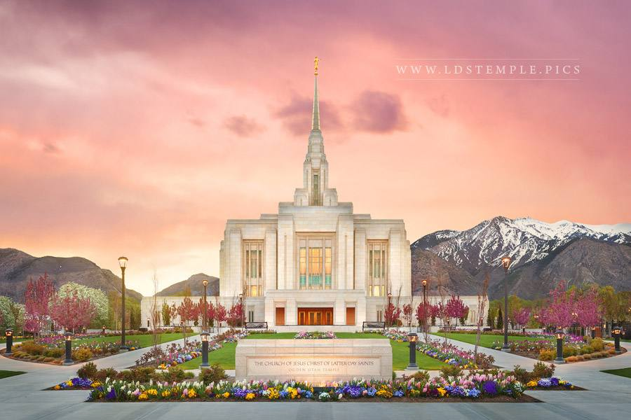 Ogden Temple The Morning Breaks Print