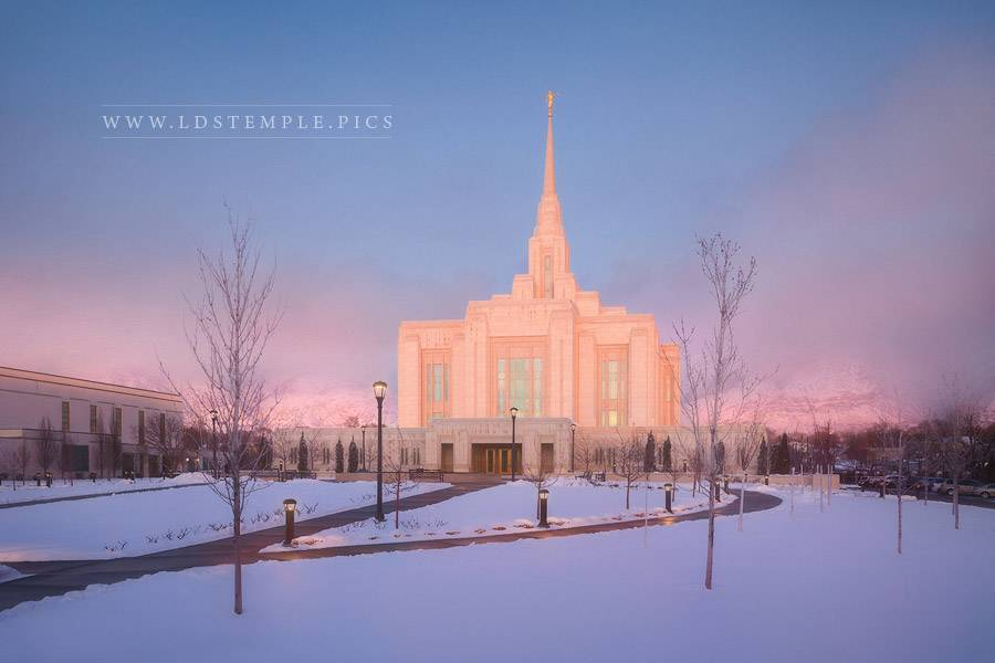 Ogden Temple Winter Light Print