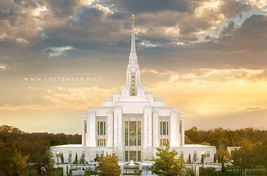 Ogden Utah Temple Sunset West Print