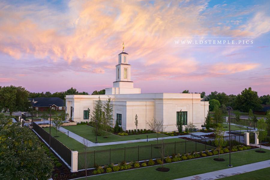 Oklahoma City Temple – Pastel Sunrise