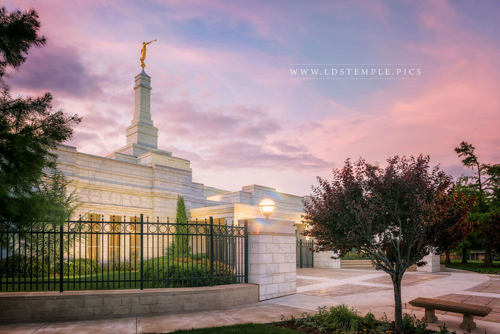 Oklahoma City Temple Pastel Sunset (Pre-Renovations) Print