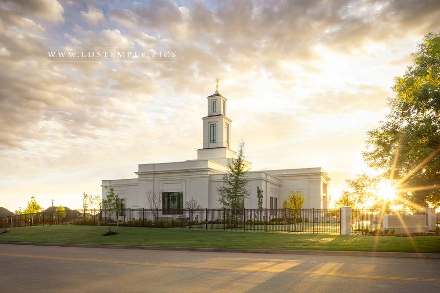 Oklahoma City Temple Radiance Print