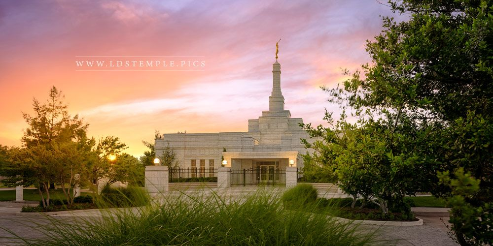 Oklahoma City Temple Shelter From The Storm (Pre-Renovations) Print