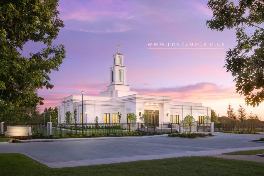 Oklahoma City Temple – Sunrise Glow