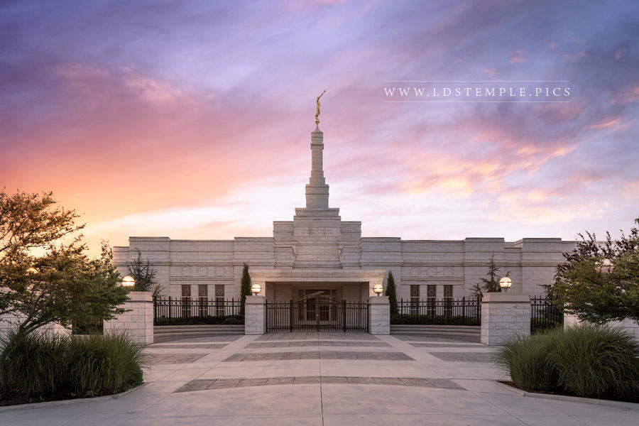 Oklahoma City Temple Sunset (Pre-Renovations) Print