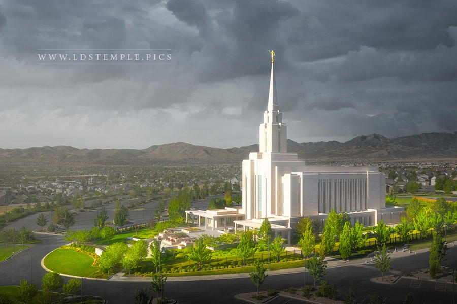 Oquirrh Mountain Temple A Place of Refuge Print