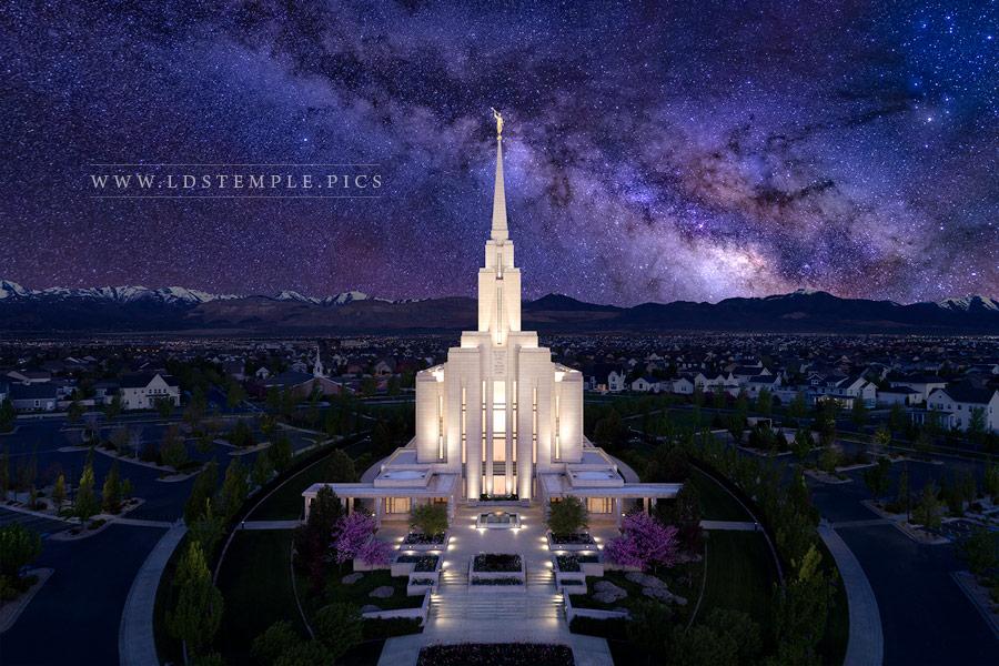 Oquirrh Mountain Temple Eternal Creations Aerial Print