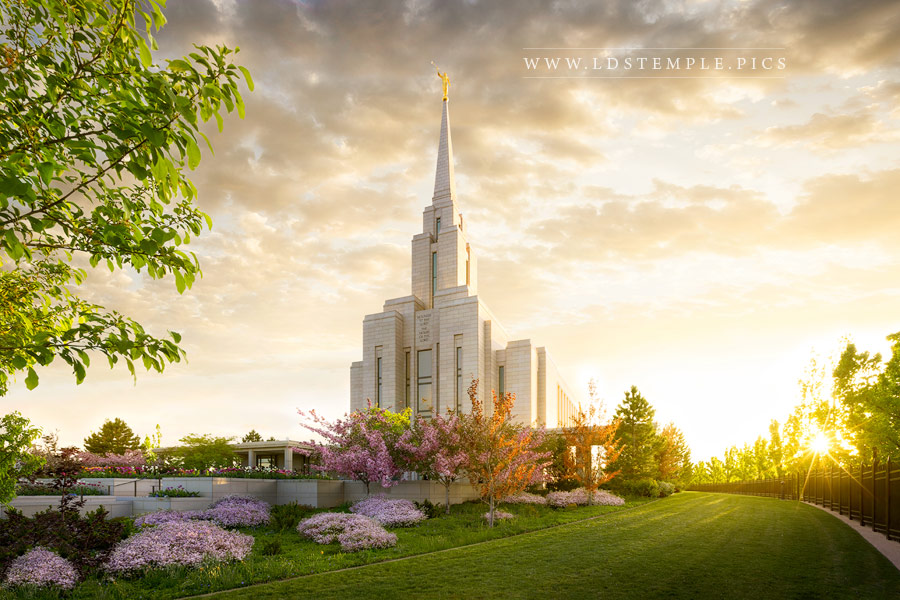 Oquirrh Mountain Temple Radiance Print