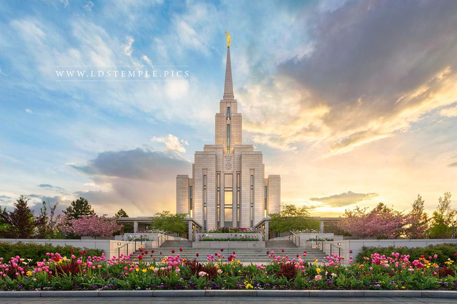 Oquirrh Mountain Temple Summer Peace Print