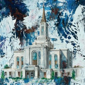 orem-temple-cold-wax-oil-painting