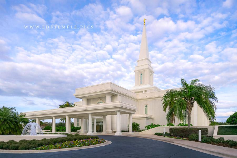 Orlando Temple Daytime Entrance Print