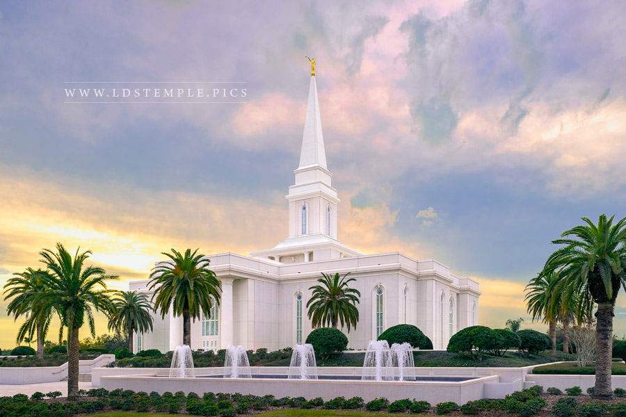 Orlando Temple Sunset Southwest Lds Temple Pictures