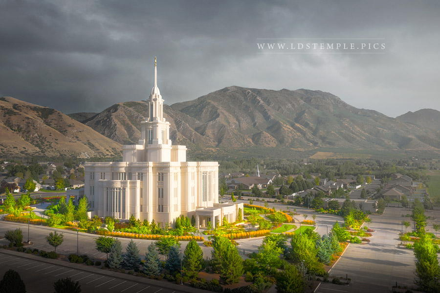 Payson Temple A Place of Refuge Print