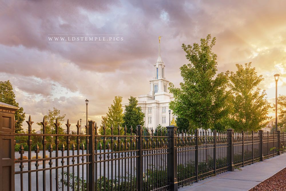 Payson Temple After The Storm Print