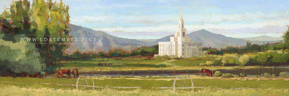 Payson Temple Among Green Pastures Painting Print