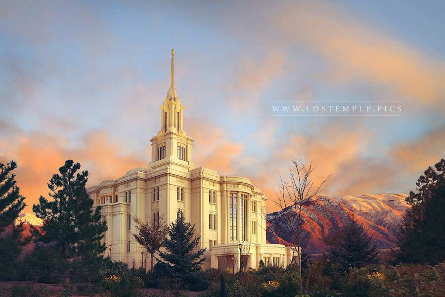 Payson Temple Changing Of Seasons Print