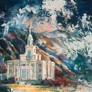 payson-temple-cold-wax-oil-painting