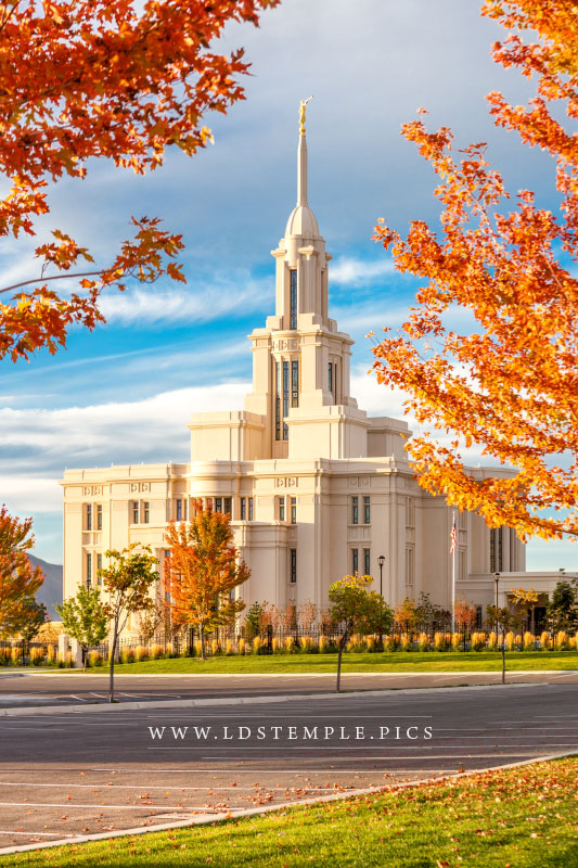 Payson Temple Colors of Autumn Print