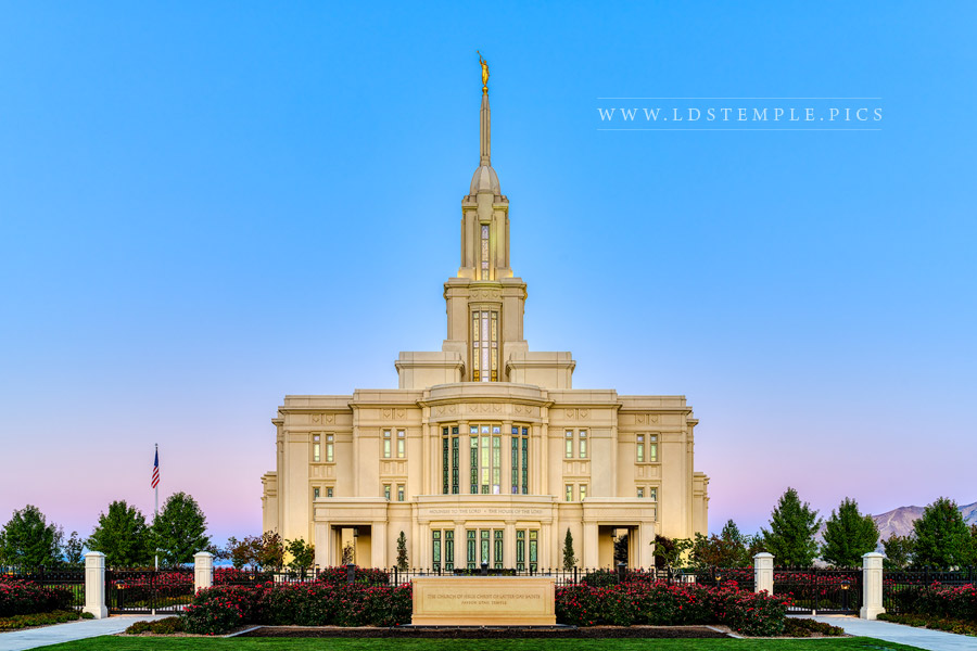 Payson Temple Early Morning Print