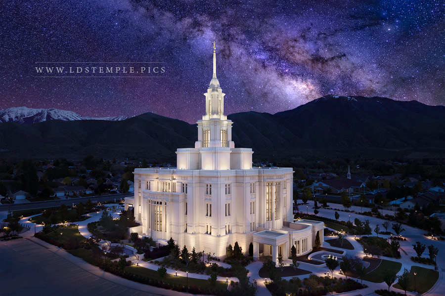 Payson Temple Eternal Creations Print