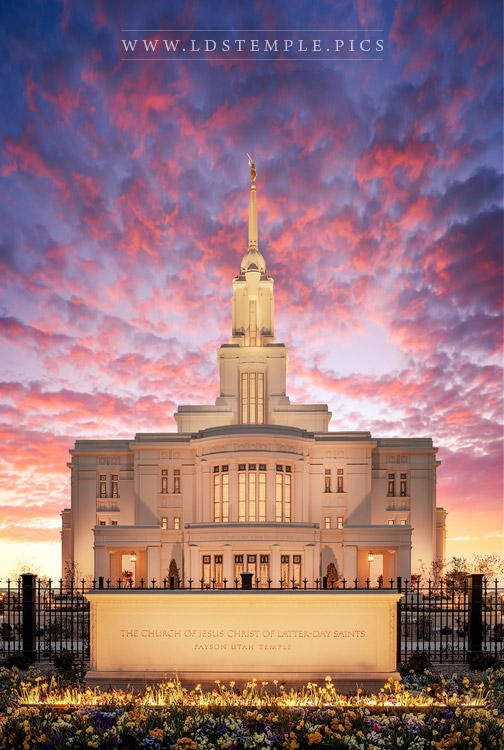 Payson Temple Evening Glow Print