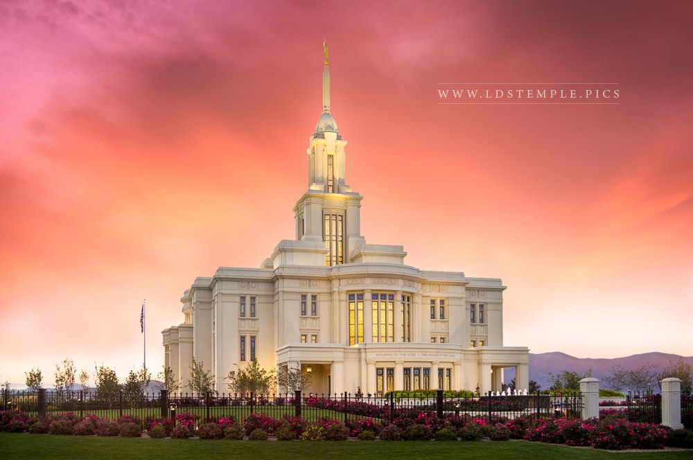 Payson Temple Glory In Stages Print