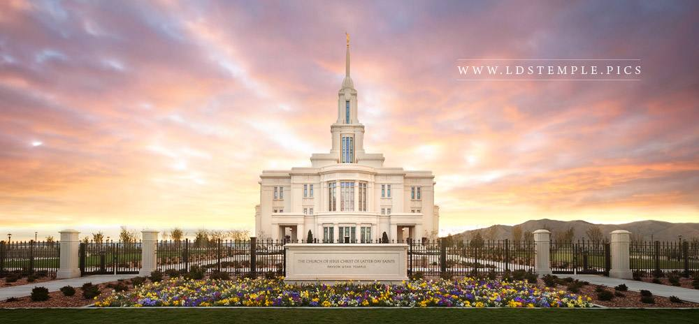 Payson Temple Glory Panoramic Print