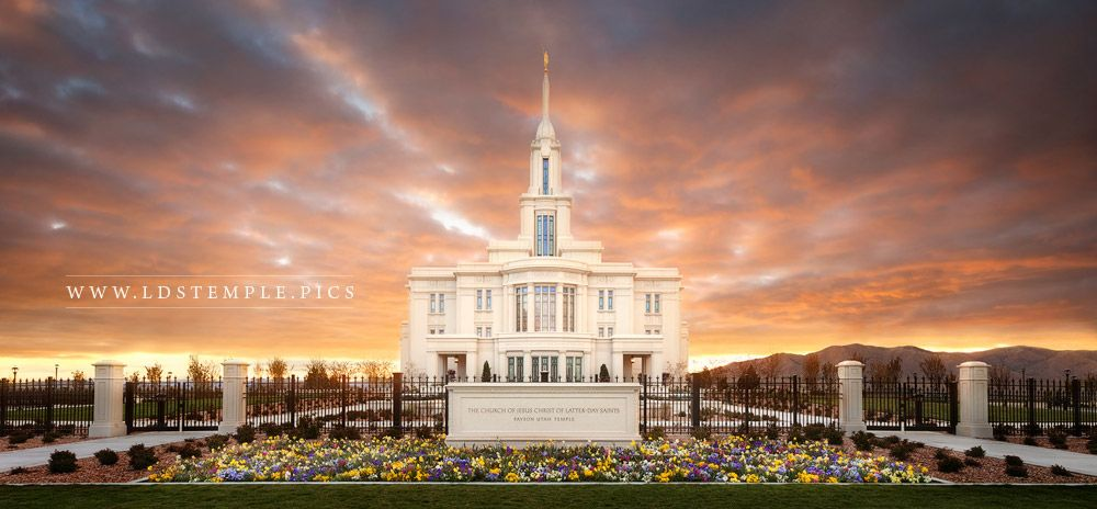 Payson Temple Sunset of Fire Print