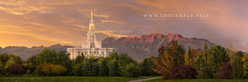 Payson Temple Golden Valley Panoramic Print