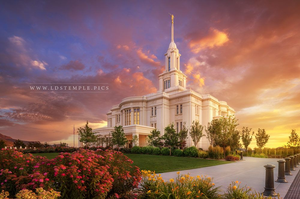 Payson Temple He Remembers The One Print