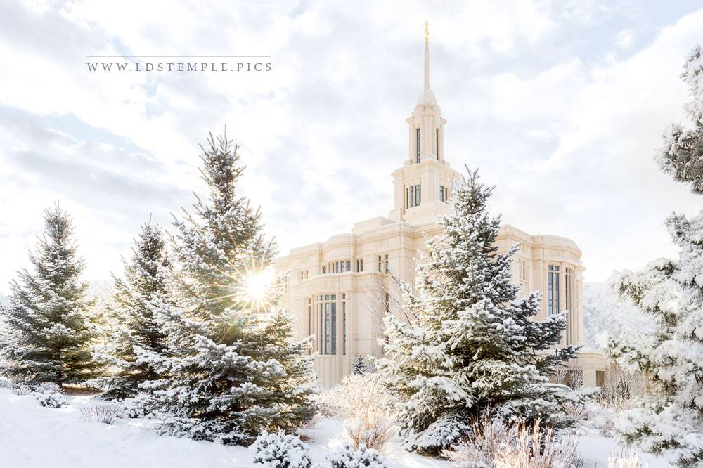 Payson Temple Heavenly Peace Print