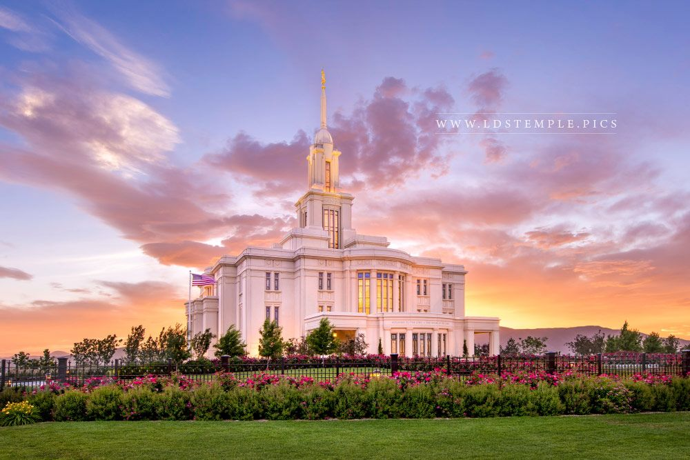 Payson Temple Lasting Luster Print