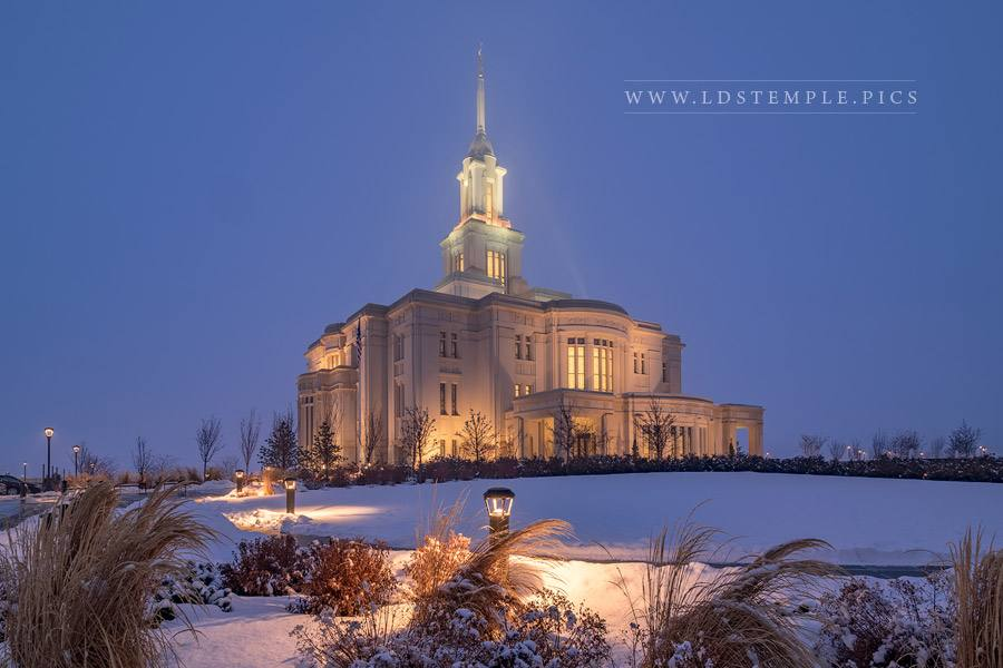 Payson Temple Lighting Our Way Print