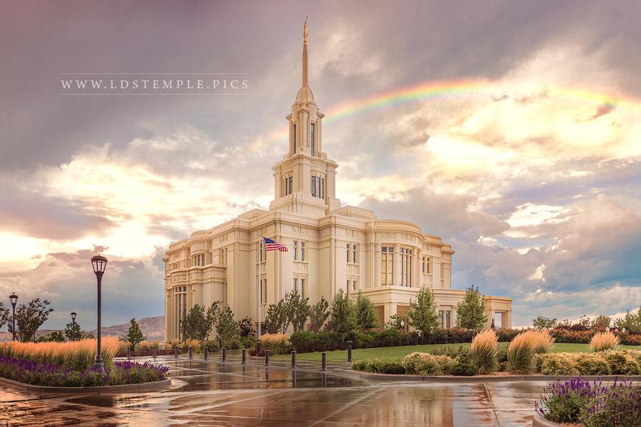 Payson Temple Rainbow Print