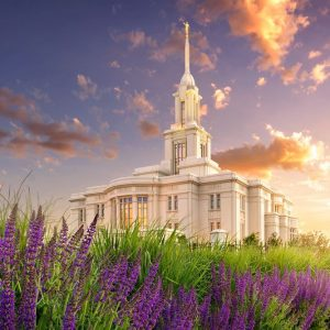payson-temple-spring-flowers