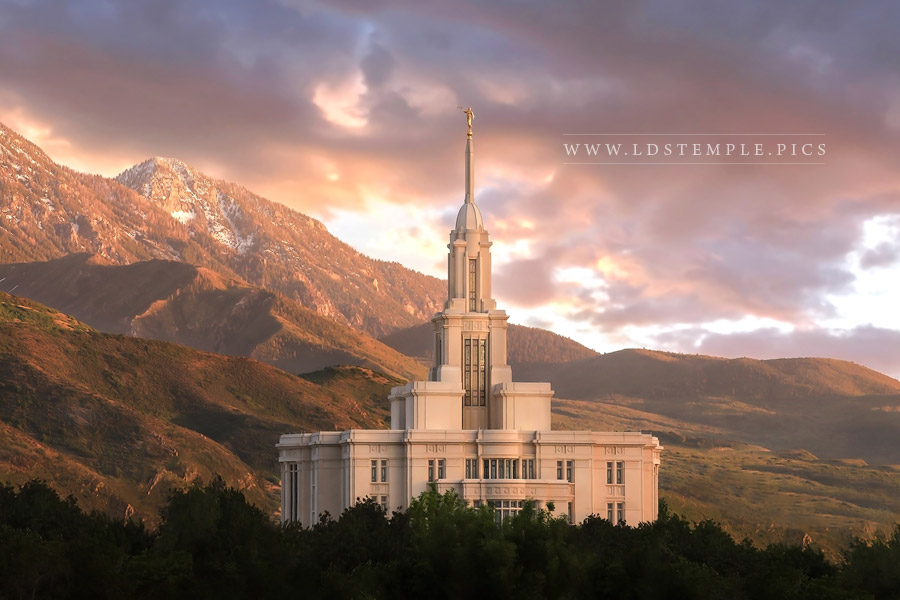 Payson Temple Spring Mountains Print