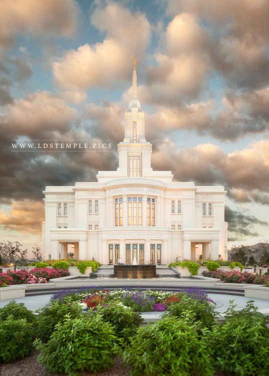 Payson Temple Summer Sunrise Print