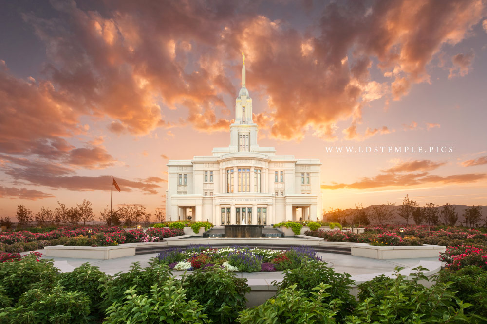 Payson Temple Summer Sunset Lds Temple Pictures