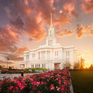 payson-temple-sunset-and-flowers-southwest