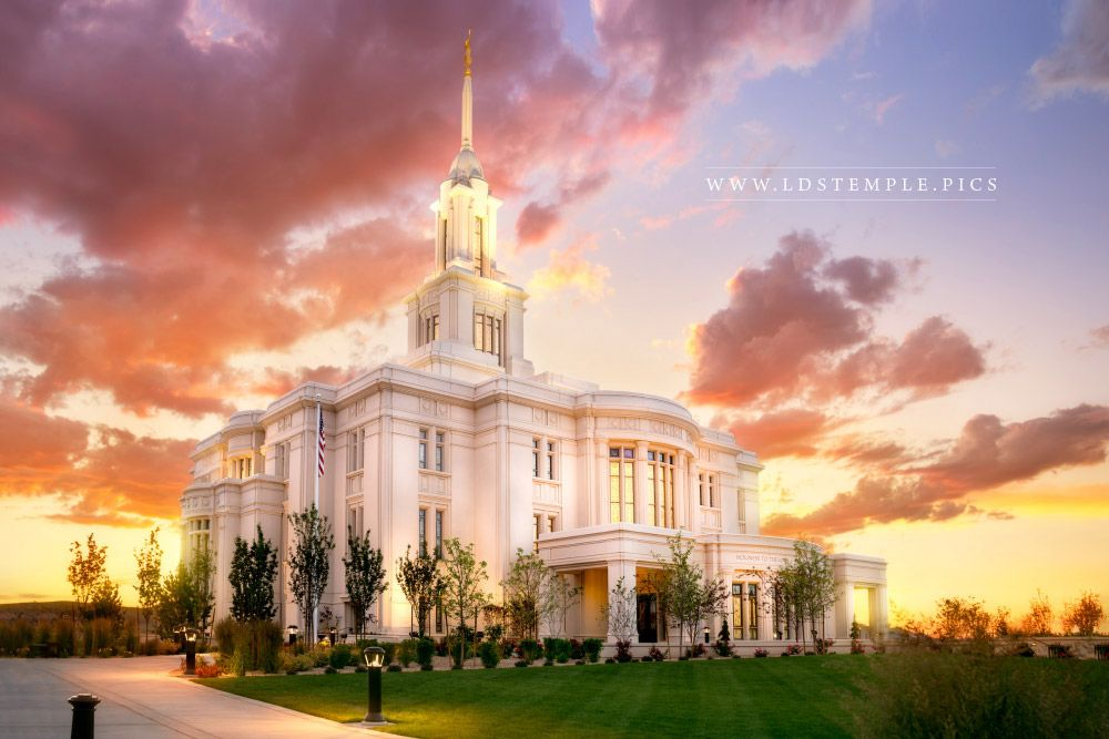 Payson Temple The Work Begins Print
